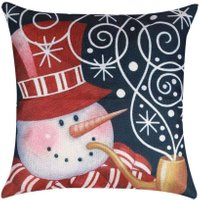 45x45cm Pillow Case Christmas Decorations For Home Snowman Car  Christmas Tree Cotton Linen Cushion Cover Home Decor