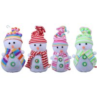 Christmas Eve Snowman Apple Bag Apple Packing Bag Xmas Gifts Box Storage Bag for Natal Apple New Year Supplies Color Random
