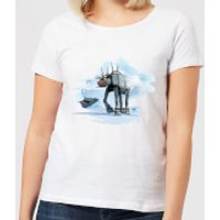 Star Wars AT-AT Reindeer Women's Christmas T-Shirt - White - 3XL - White